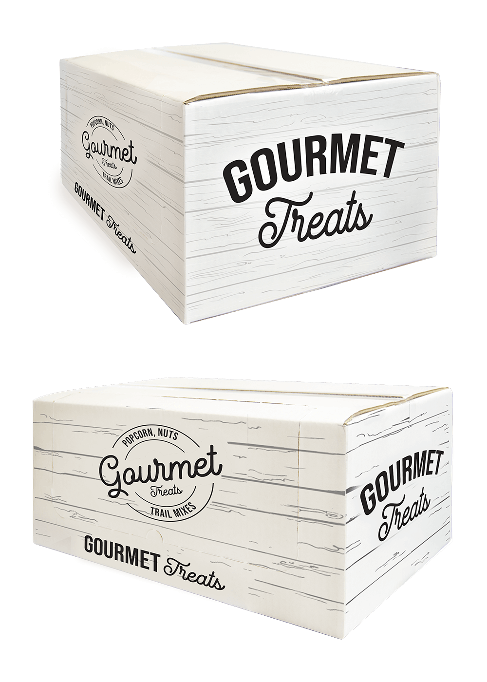 Our unopened gourmet popcorn shipper boxes