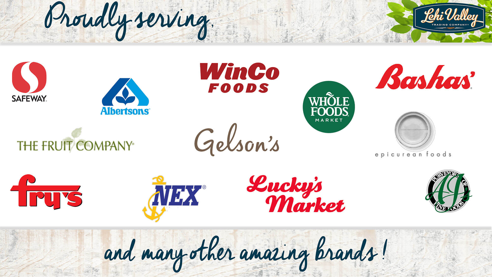 List of retailer logos we proudly serve